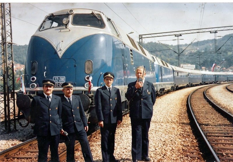 Mythical locomotives for Tito's blue train.
