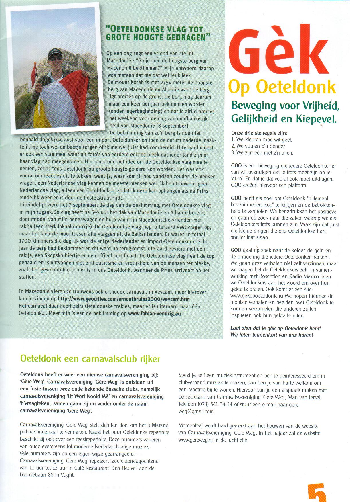 30/11/2008:Blurb,the official carnival magazine of Oeteldonk.