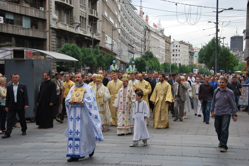 """U Srbiji je sve moguće"" (1): in the middle of a procession…"