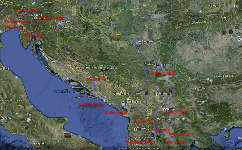 Od Triglava do Vardara…. A journey through former Yugoslavia