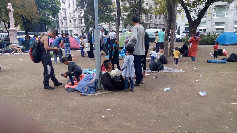 The refugee crises in Belgrade