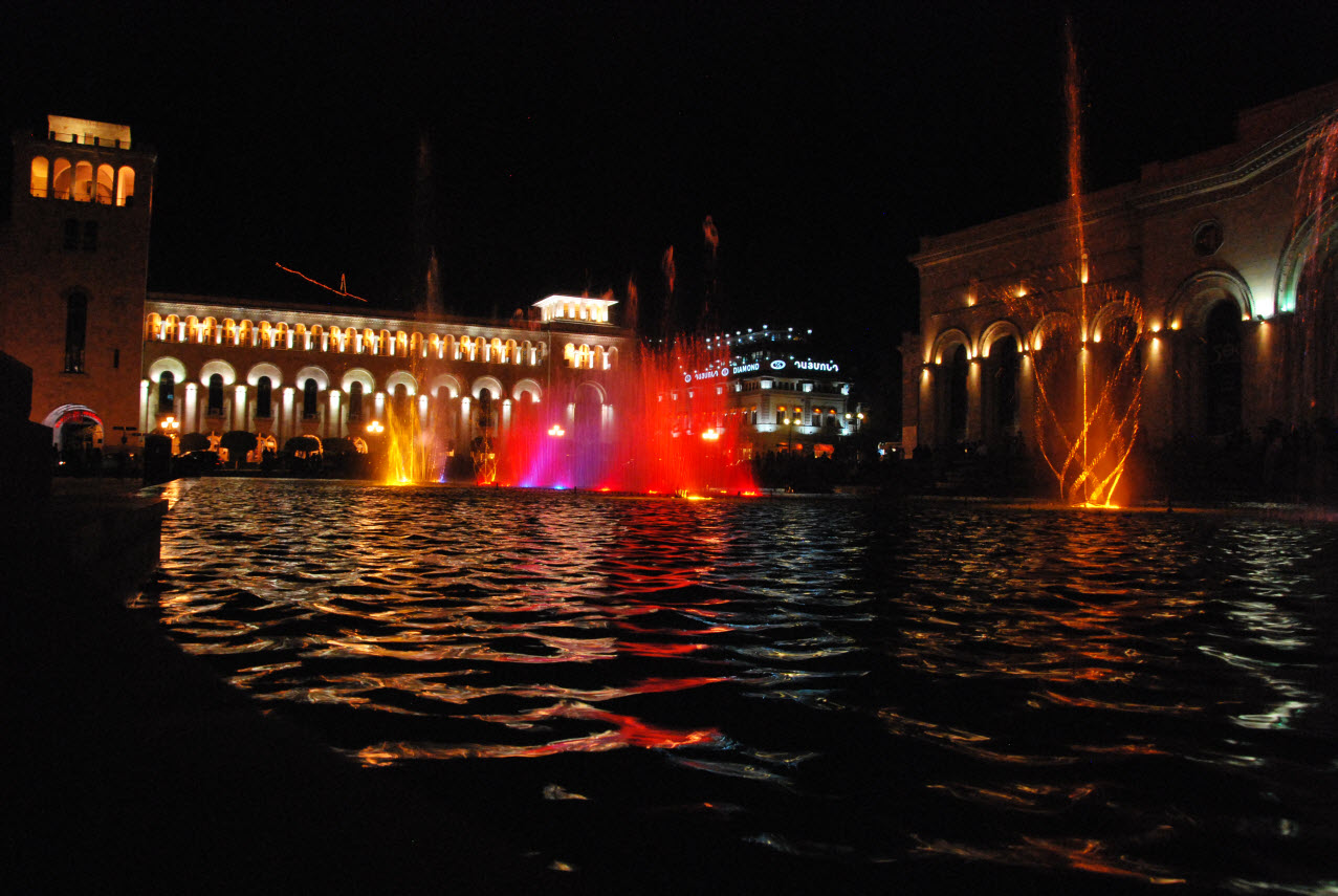 Fountain show in Yerevan – Armenia